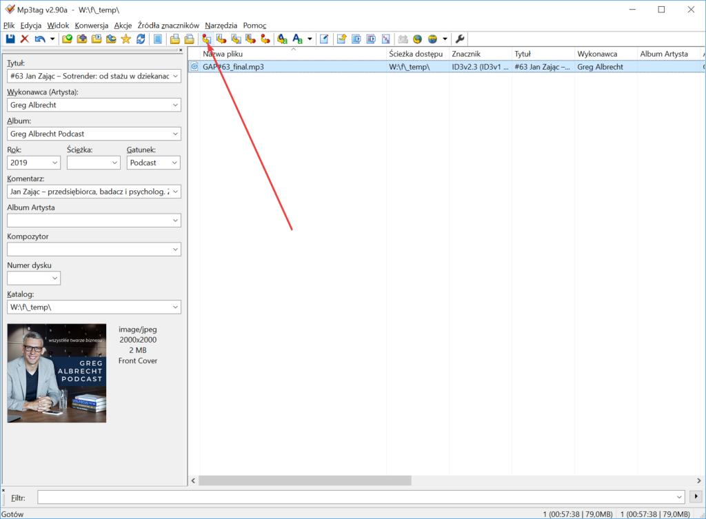 Jak dodać tagi ID3 dopliku MP3 zpodcastem? – ekran 8
